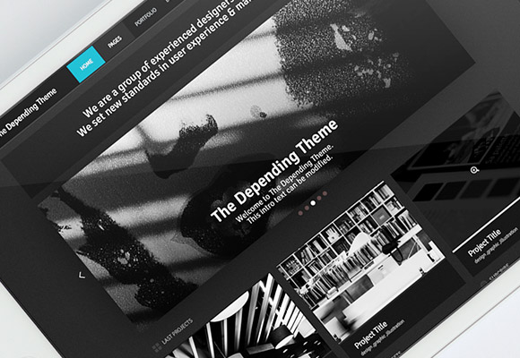 The Depending Theme - PSD template