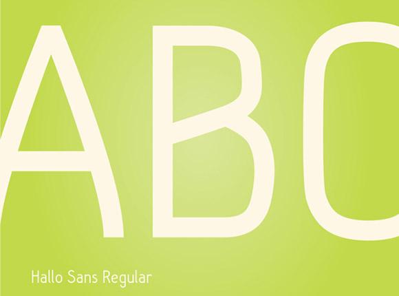 Hallo Sans free font