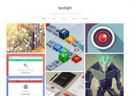 Spotlight - Free portfolio WordPress theme