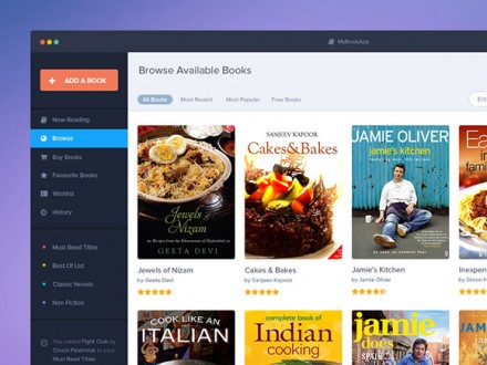 Book app template PSD