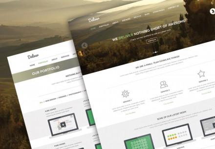 Deliver - Free PSD theme