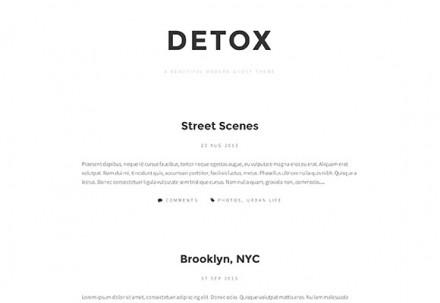 Detox - Free Tumblr theme