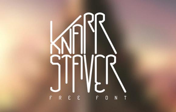 Knarrstaver free font