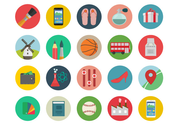 Roundicons - 60 free coloured icons