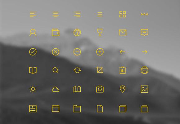 36 stroke icons psd freebiesbug for Freebiesbug