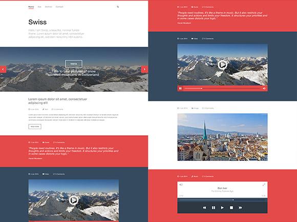 Swiss - Free PSD Tumblr template