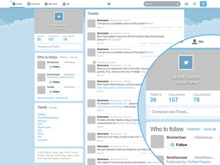 Twitter GUI redesigned PSD