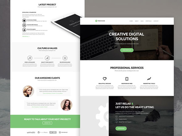 Treehouse - PSD web template