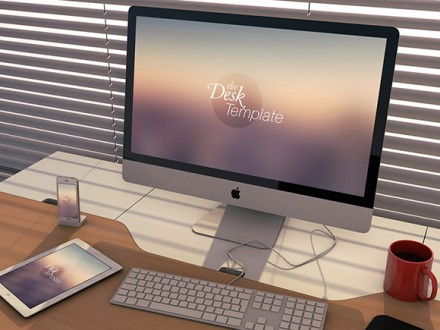 The Desk Template - Apple PSD mockups