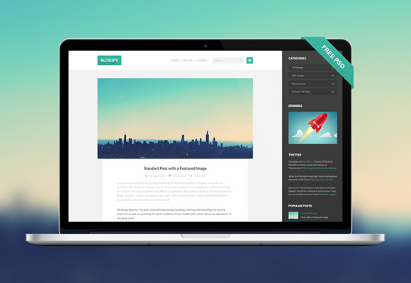 Blogify PSD template