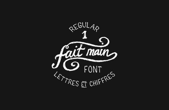 Fait Main 1 Free Font Download