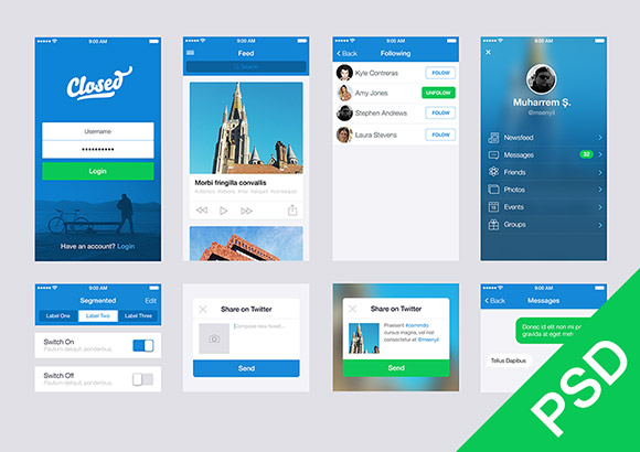 Free ui set for app design freebiesbug for Blueprint app free