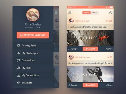 iOS7 challenge app concept