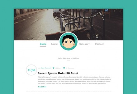 Simple blog PSD template