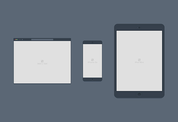 Containers - PSD browser/devices mockups