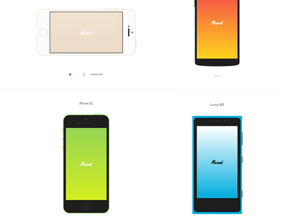 8 CSS devices mockups