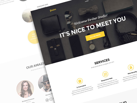 Golden - One page portfolio PSD