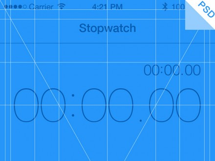 iPhone 5 app grid PSD