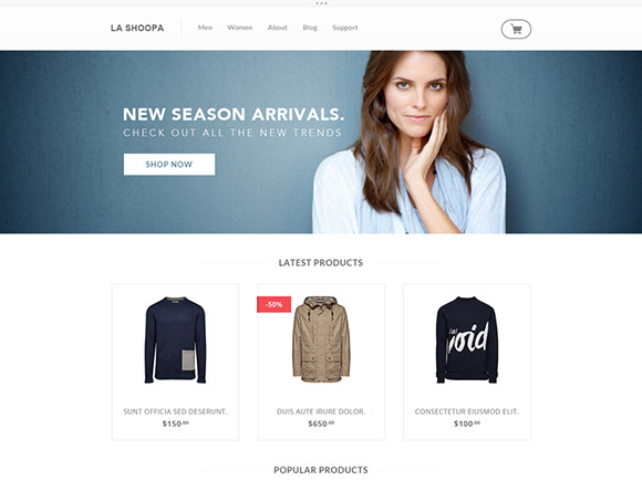 La Shoopa - PSD eCommerce Template
