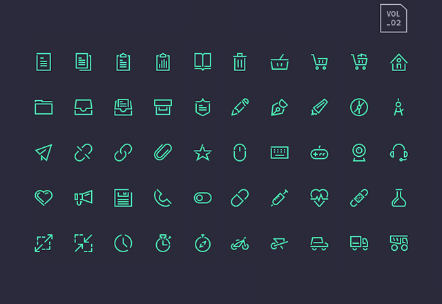 Stroke Gap Icons Vol2 - AI PSD