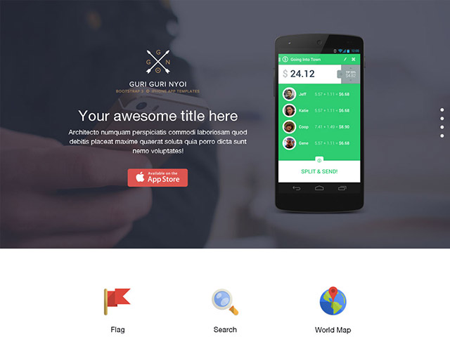 Bootstrap 3 single page template