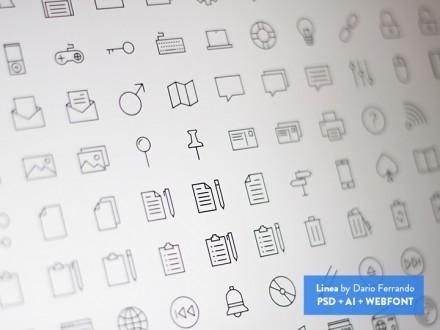 Linea - Line icon set (PSD + AI + Webfont)