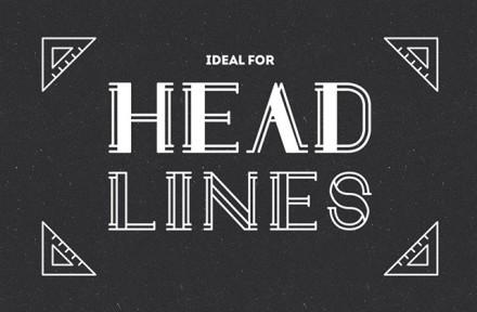 Draft Display free font