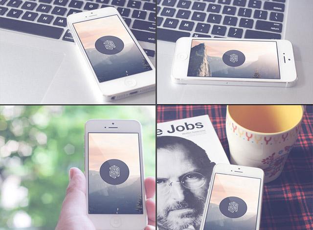 Iphone 5 mockup set