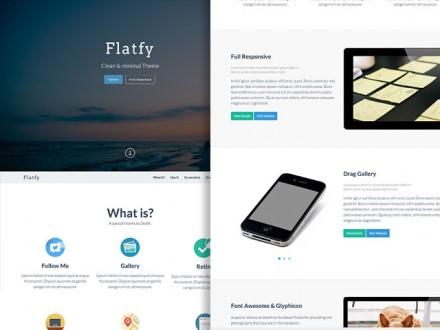 Flatfy - Flat minimal HTML template