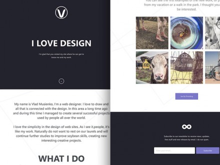 Lithium - HTML5 Responsive one page template