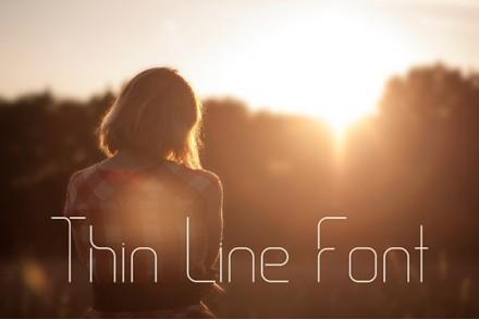 Thin Line Font - Free font