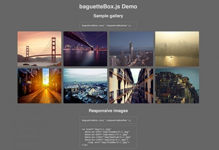baguetteBox.js - Javascript lightbox