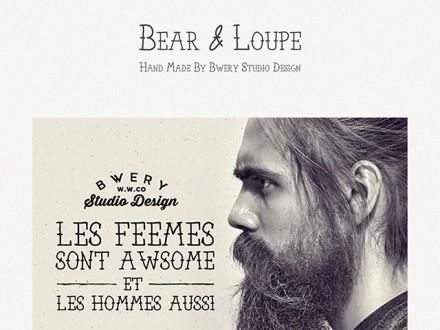 Bear & Loupe free font family