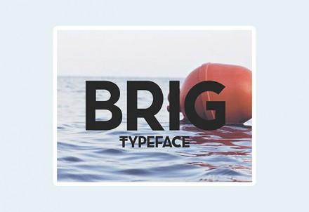 Brig free font