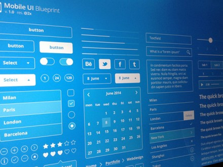 Mobile UI Blueprints PSD