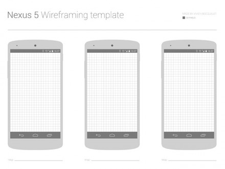 Nexus 5 wireframe template