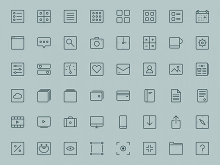 48 free line icons for Illustrator