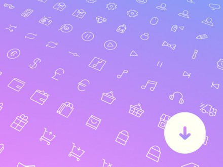 100+ simple line icons - PSD + Sketch + SVG