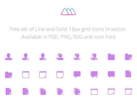 210 free icons - PSD + SVG + Webfont