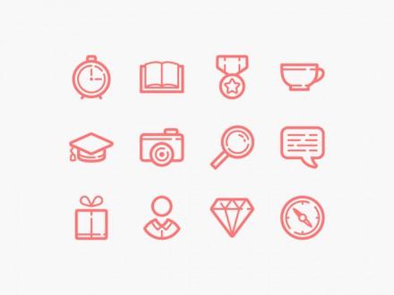 60 line icons - PSD + AI + EPS