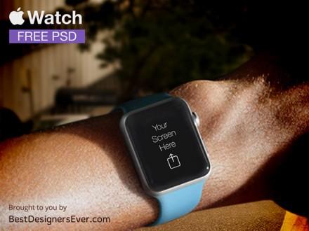 Apple Watch PSD template