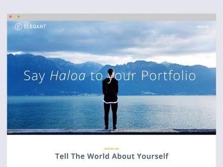 Elegant - Free HTML & PSD portfolio template