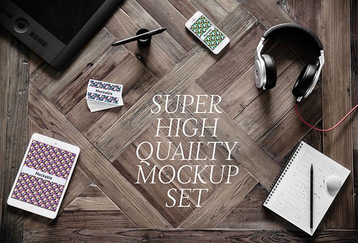5 high-quality photographic mockups