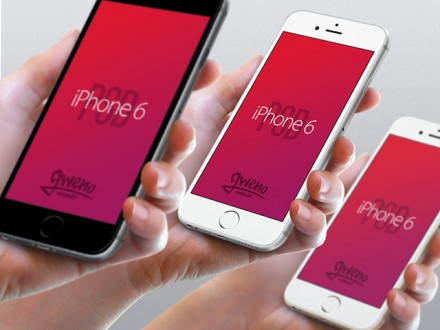 iPhone 6 mockups - Hand view