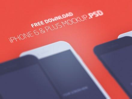 iPhone 6 & Plus flat mockups