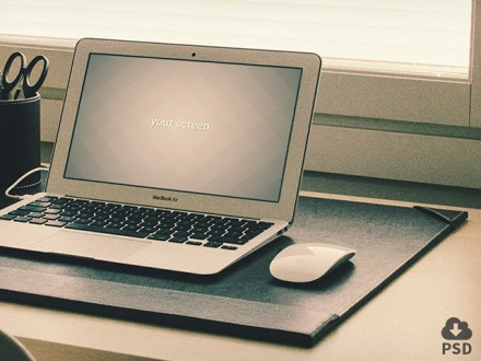3 Macbook Air mockups