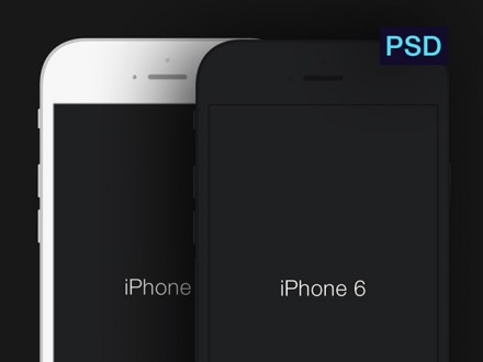 Minimal iPhone 6 mockups - PSD