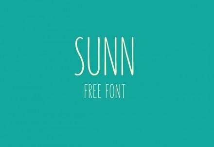 Sunn free font