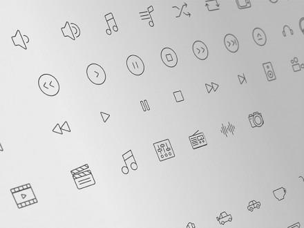 300+ line icons - PSD, AI, EPS