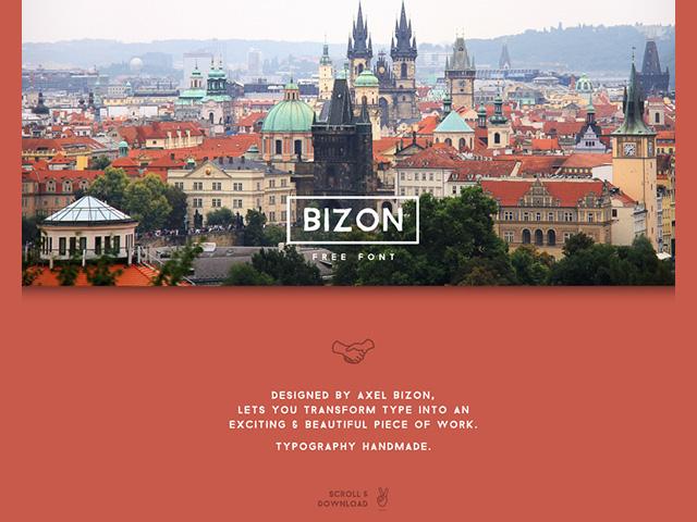 Bizon free font freebiesbug for Freebiesbug